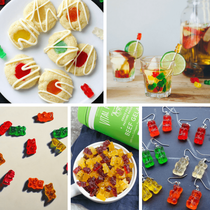 Gummy bears ideas: A roundup of 20 crafts and recipes that use the classic candy, gummy bears. #GummyBear #Candy #GummyBears #Crafts #Recipes