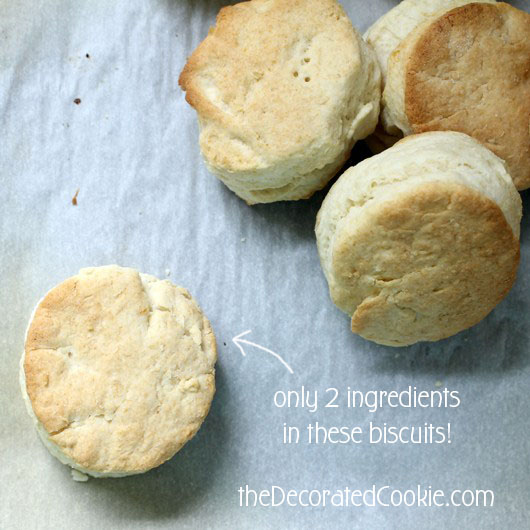 two-ingredient biscuits