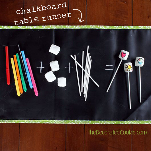 chalk table runner
