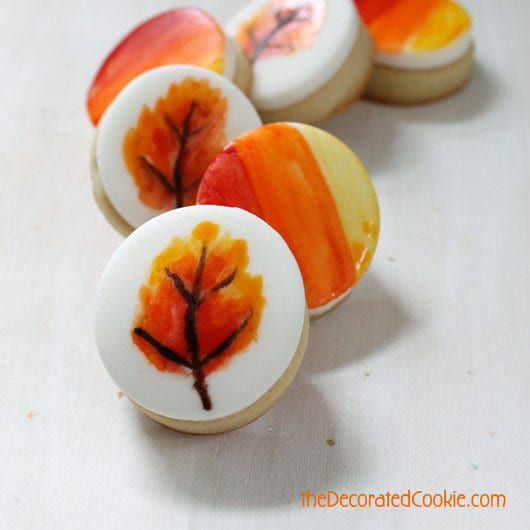 painted fall cookies