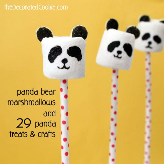 panda bear marshmallows