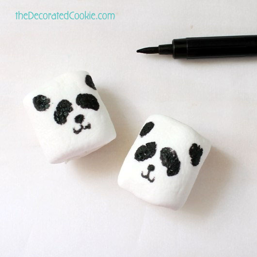 panda bear marshmallows and a roundup of panda bear treats and crafts