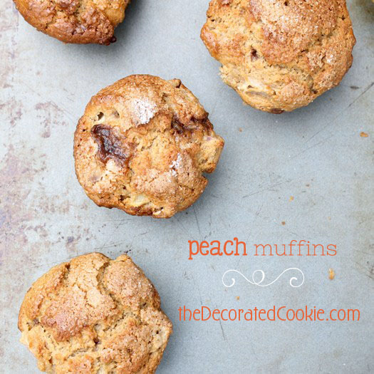peach muffins and peach picking