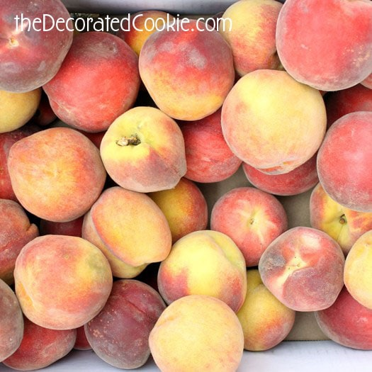 Peaches, peaches and more peaches.