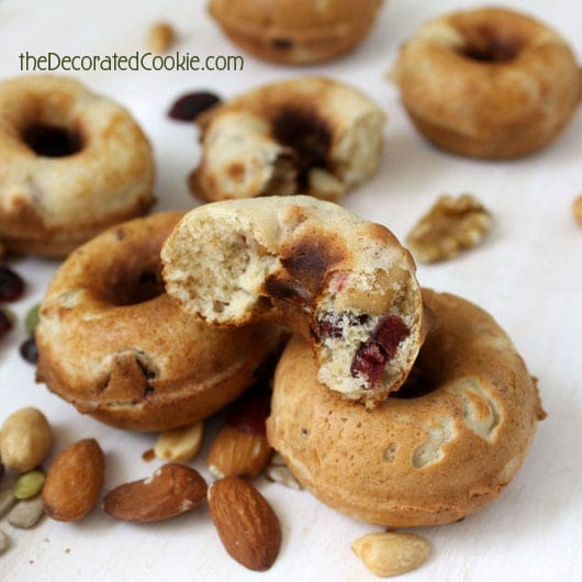 HEALTHY maple trail mix doughnuts in the BabyCakes Donut Maker