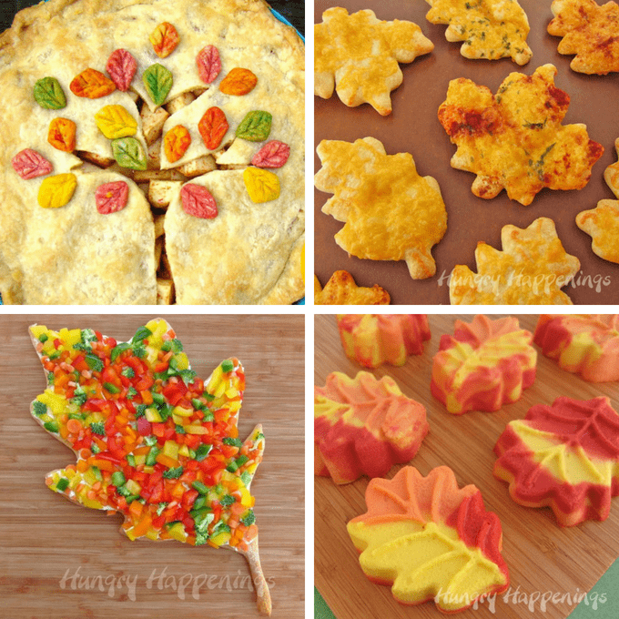 Painted fall cookies: How to paint on cookies in Fall colors and a roundup of 18 edible leaves, fun food ideas for fall and Autumn parties.