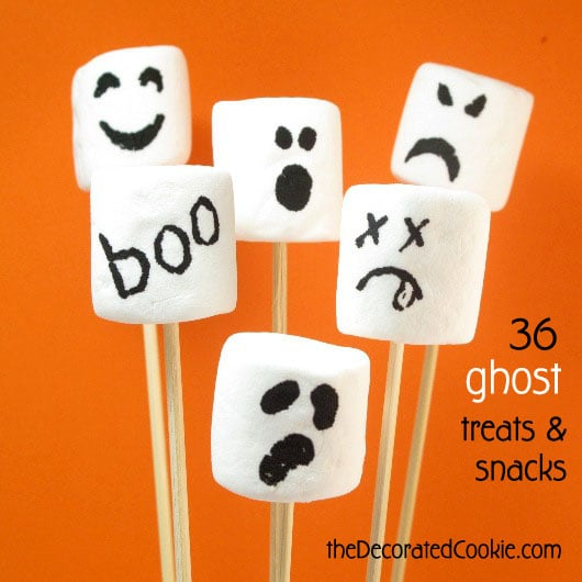 BOO!! 36 Ghost treats and snacks for Halloween