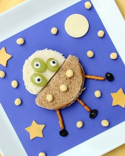UFO sandwiches - fun lunch for kids