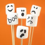 marshmallow ghosts for Halloween