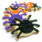 sparkly spider cookies