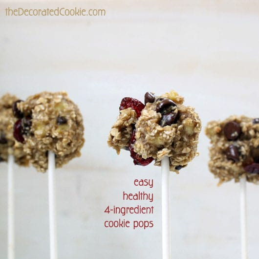 banana oat cookie pops
