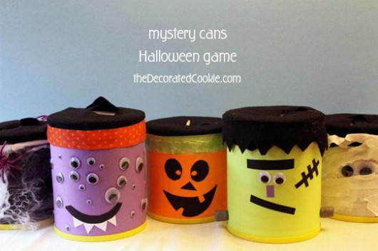 Monster Mystery Cans A Halloween Children S Game