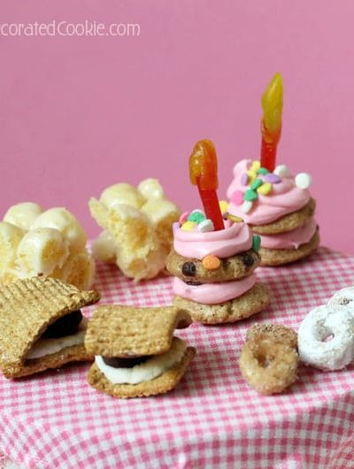 Teeny, tiny sweet birthday treats for Kix