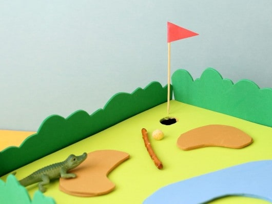 Kix Cereal box golf