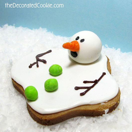 the ORIGINAL melting snowman cookie - the decorated cookie
