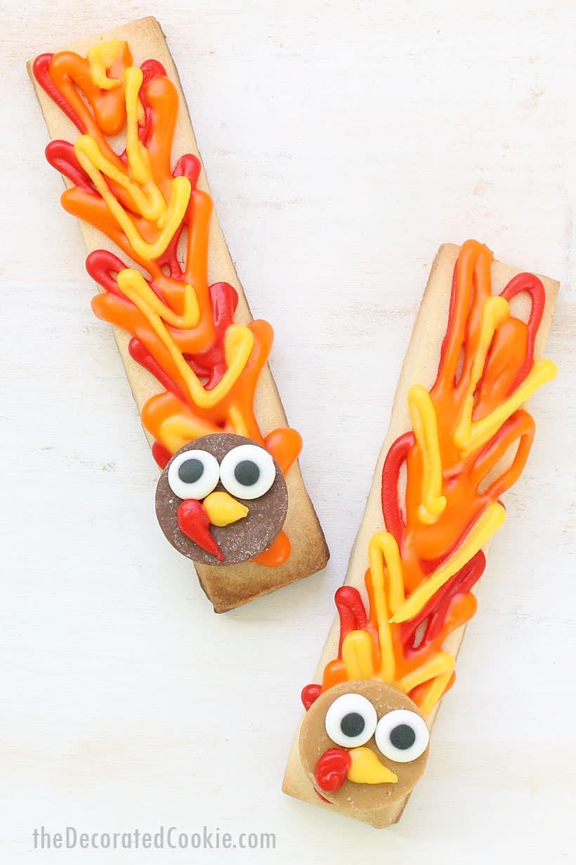 turkey cookie sticks for Thanksgiving