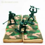 camouflage army cookies