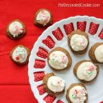 gingerbread cookies with peppermint cream cheese frosting for Christmas cookies