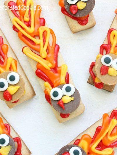 turkey cookie sticks