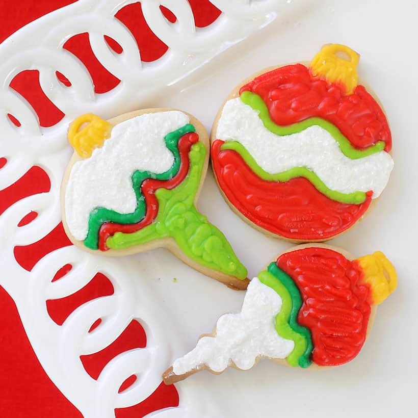 decorated Christmas ornaments cookies