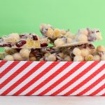 White chocolate cherry Kix clusters for christmas