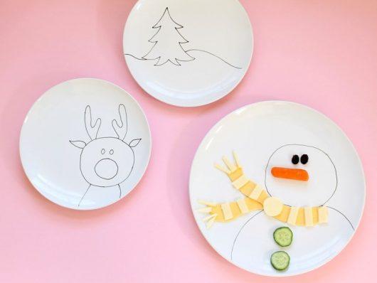 DIY Christmas plates