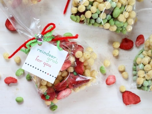 Reindeer feed snacks and free printable