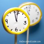 New Year's Eve almost midnight cookie pops