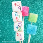 New Year's Eve marshmallows - how to make easy, sparkly, sprinkle marshmallows and countdown marshmallows using food coloring pens