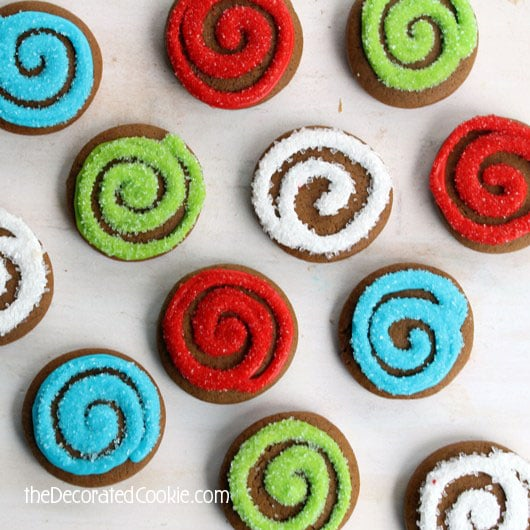 gingerbread swirl cookies