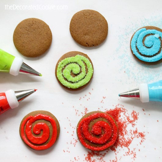 gingerbread swirl cookies for christmas