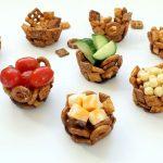 Mini edible snack mix snack cups