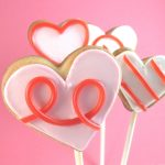 licorice heart cookie pops