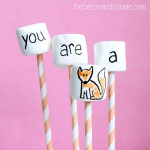 fox marshmallow pops