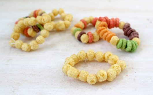 Healthy edible jewelry craft for kids