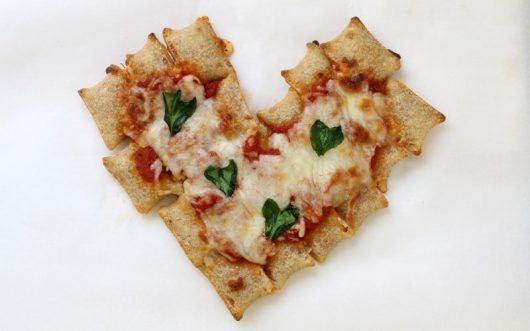 pull-apart heart pizza