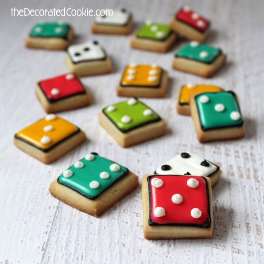 dice cookies for game night