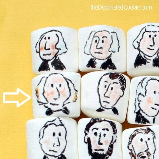 Presidents' Day marshmallows