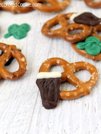 Guinness and shamrock St. Patrick's Day snack mix