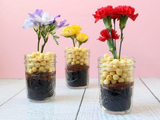 Flower Chocolate Cake Cups