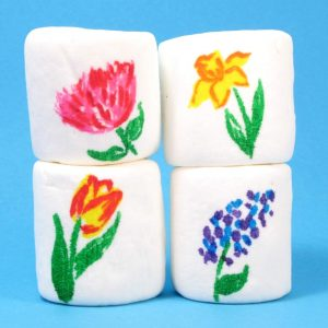 spring marshmallow art