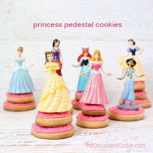 pink princess pedestal cookies