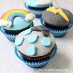 fondant weather cupcakes - the decorated cookie