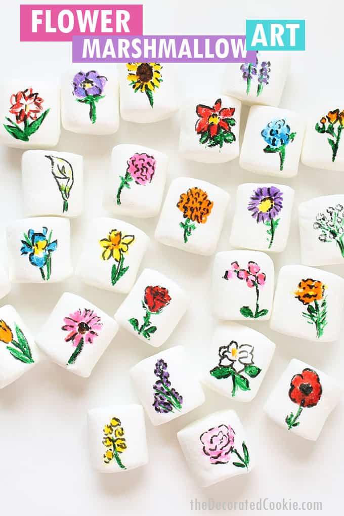 flower marshmallow art