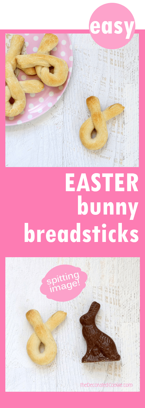 easy bunny breadsticks for Easter dinner