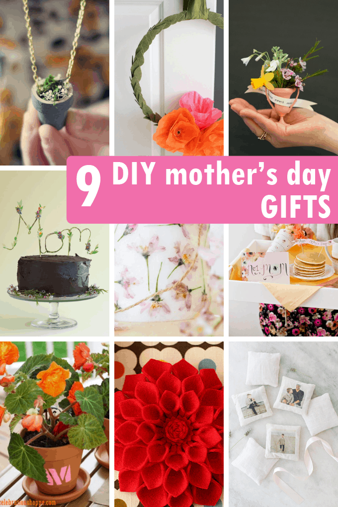 A roundup of homemade DIY Mother's day gift idea #mothersday #crafts