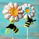 bumble bee daisy cookie pops