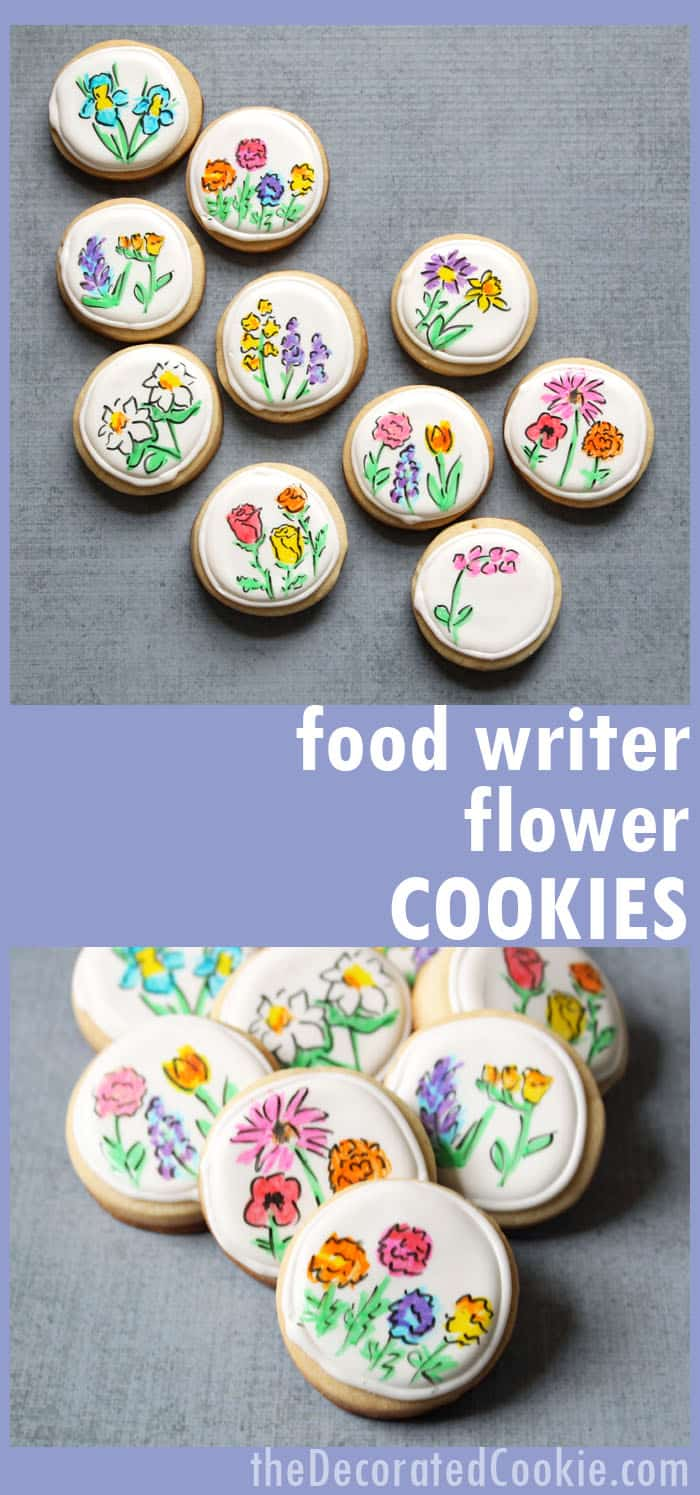 How to decorate cookies with food writers: Flower cookies for Mother's Day and spring