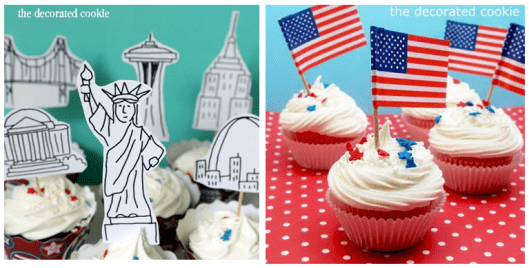 4th of july cupcakes