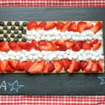graham cracker flag dessert -- EASY-- for 4th of July or Memorial Day